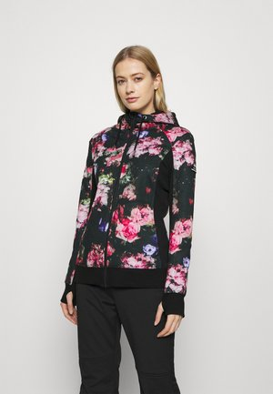 FROST PRINTED - Fleece jacket - true black/multicolor