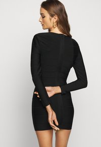Hervé Léger - ICON LONG SLEEVE DRESS - Shift dress - black - 2