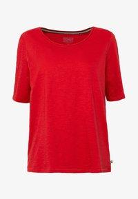 Esprit - Basic T-shirt - dark red - 4