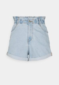 Gina Tricot - PAPERBAG - Jeans Shorts - pale blue - 4