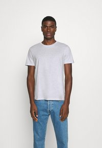 Burton Menswear London - SHORT SLEEVE CREW 5 PACK - T-Shirt basic - black/white/navy/light grey marl/burgundy marl - 4
