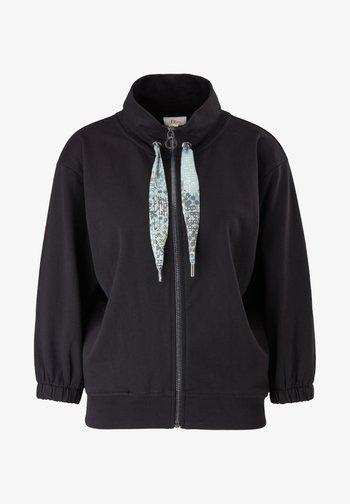 JAS - Zip-up sweatshirt - black