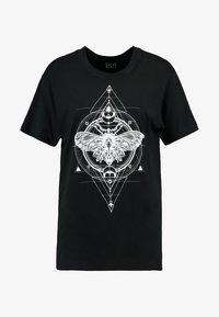 Merchcode - LADIES MOTH TEE - Print T-shirt - black - 3