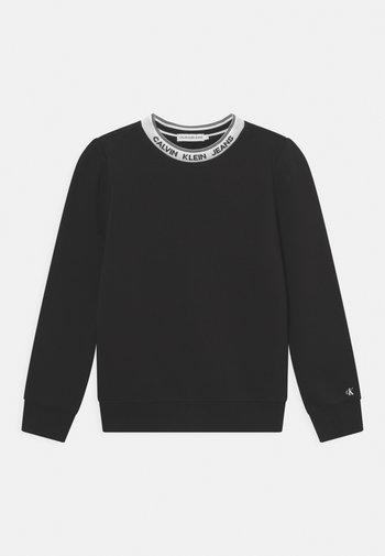 INTARSIA  - Sweatshirt - black