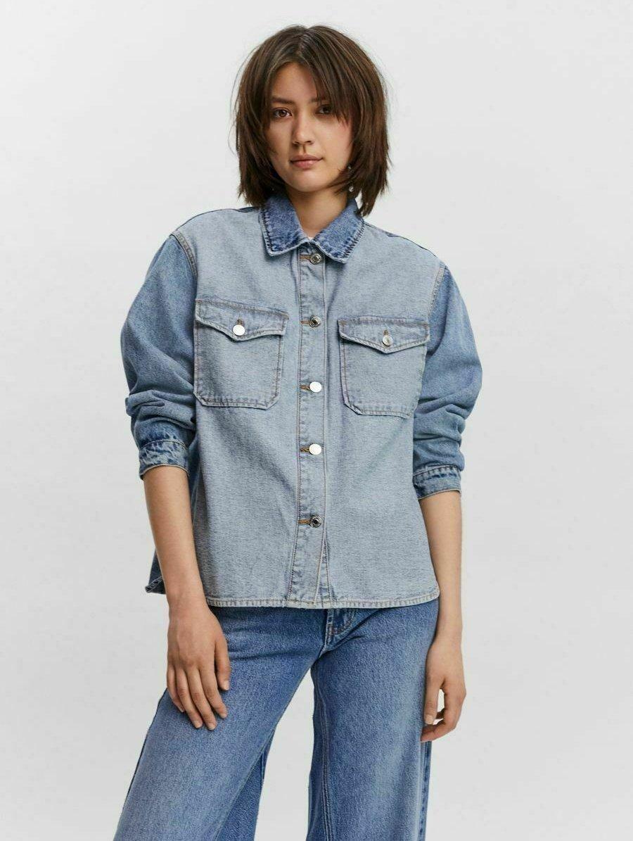 Donna Giacca di jeans