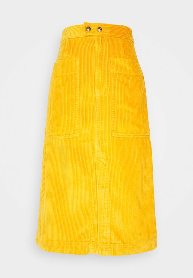 MIDI SKIRT - A-line skirt - gold