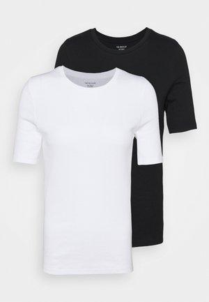 2 PACK - Paprasti marškinėliai - white/black