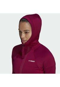 adidas Performance - Zip-up hoodie - burgundy - 5