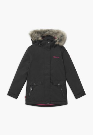 GIRLS OSLO COAT  - Vinterfrakker - anthracite/magenta