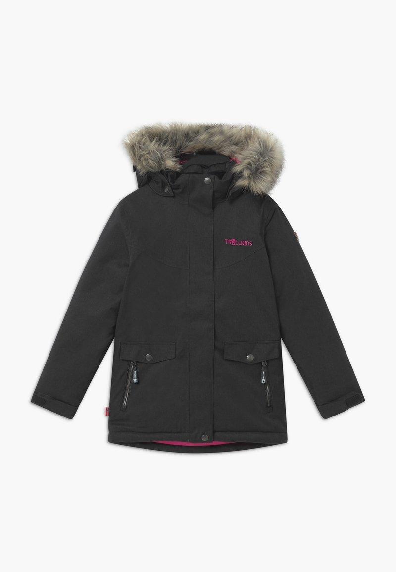 TrollKids - GIRLS OSLO COAT  - Zimní kabát - anthracite/magenta