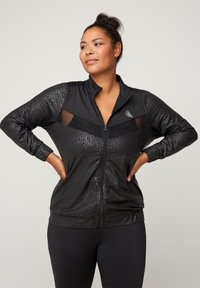 Active by Zizzi - WITH PATTERN MADE UP OF SIMILAR COLORS - Verryttelytakki - black - 0