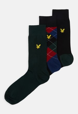 JASPER 3 PACK - Socks - black/pine grove