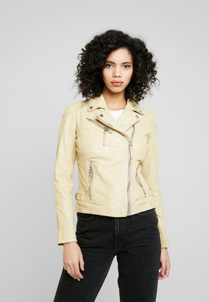 PGG LABAGV - Leather jacket - pale yellow