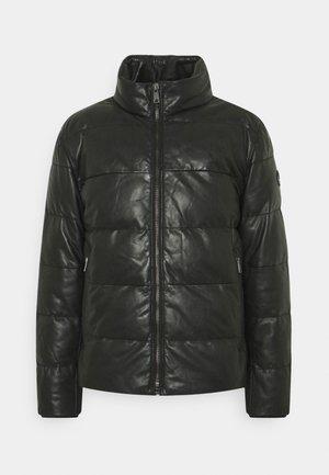 FLAME - Leren jas - black