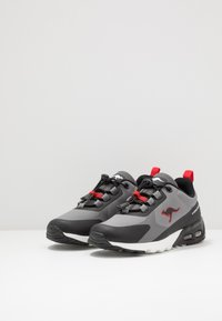 KangaROOS - KX-HYDRO - Trainers - jet black/fiery red - 3
