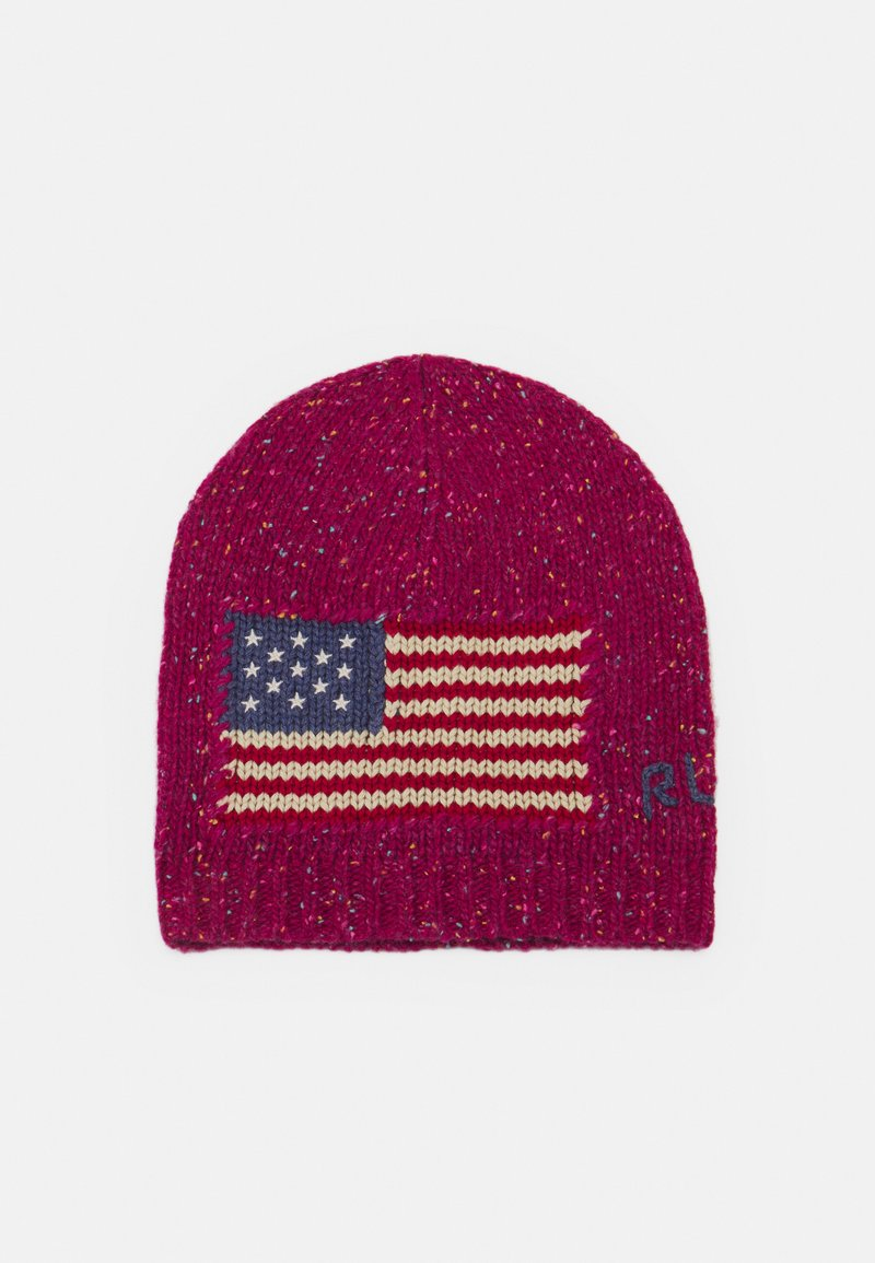 Polo Ralph Lauren - FLAG HAT - Beanie - pink donegal