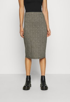 IHKATE GRID - Pencil skirt - black