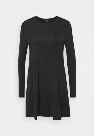 VMJAVA PEPLUM SHORT DRESS - Jersey dress - black