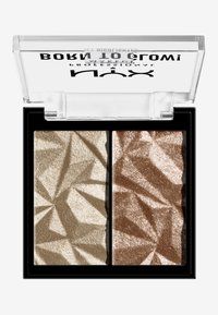 Nyx Professional Makeup - BORN TO GLOW ICY HIGHLIGHTER DUO - Hightlighter - 02 platinum status - 0