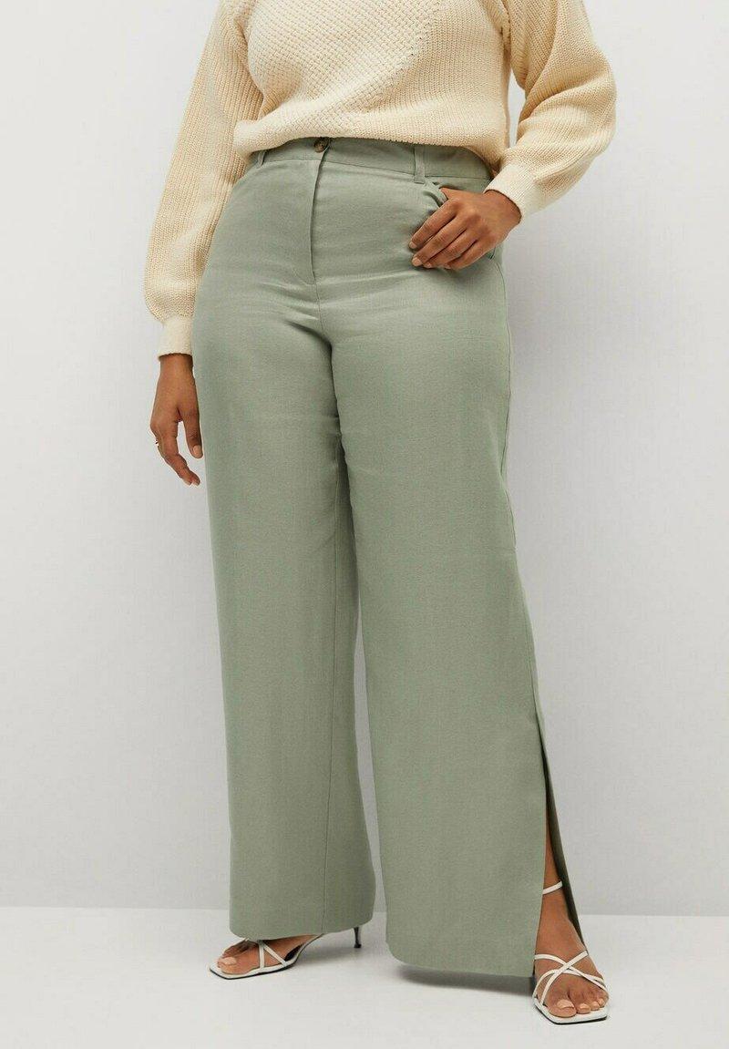 Violeta by Mango - POLLITO8 - Trousers - minzgrün