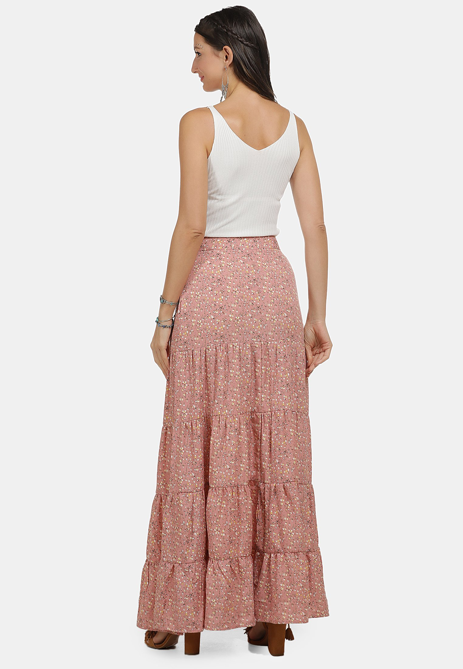 Cheapest Women's Clothing usha Maxi skirt flower print IJUudwpyM