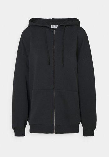 NA-KD X ZALANDO EXCLUSIVE ZIP HOODIE - Sweater met rits - black