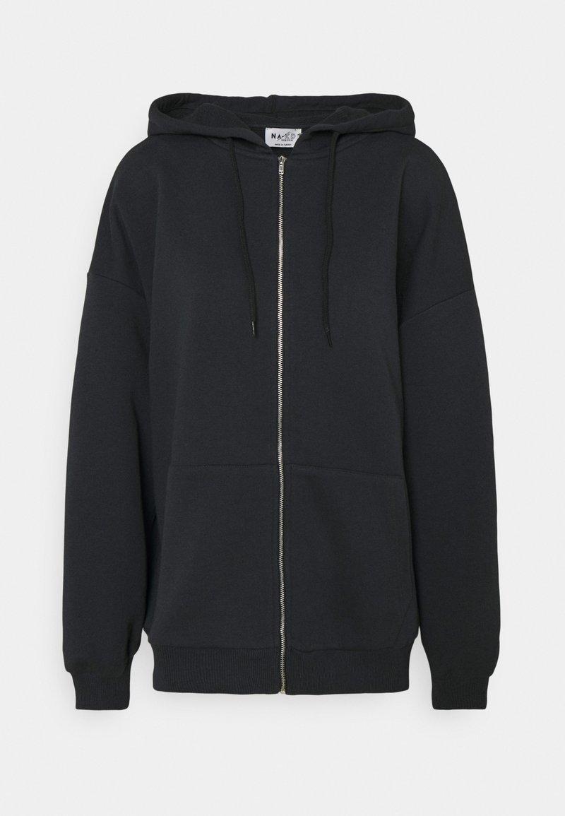 NA-KD - NA-KD X ZALANDO EXCLUSIVE ZIP HOODIE - Zip-up hoodie - black