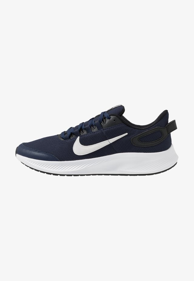 RUNALLDAY 2 - Neutral running shoes - midnight navy/white/black