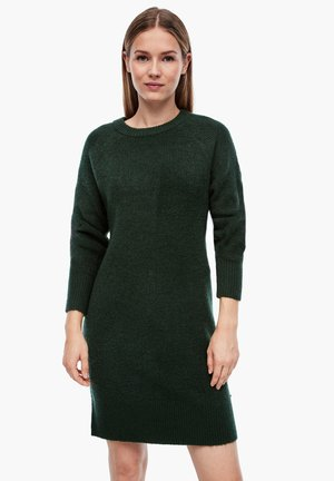 Jumper dress - dark green melange