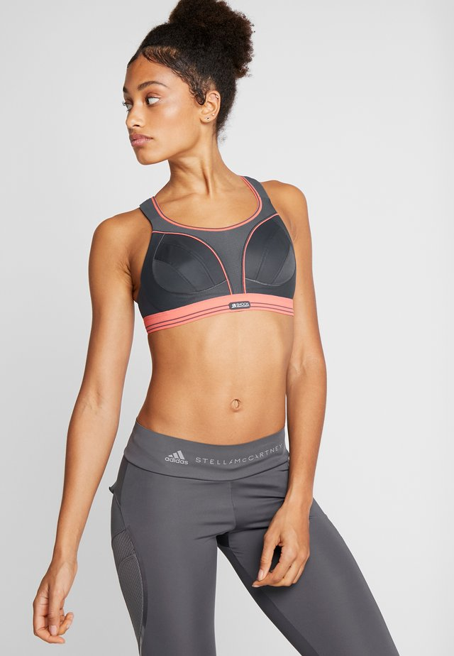 ULTIMATE RUN - Reggiseno sportivo - grau/orange