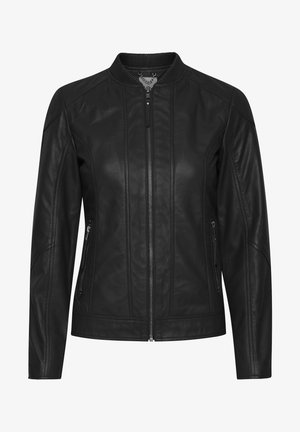 FRLA LUXE - Leather jacket - black