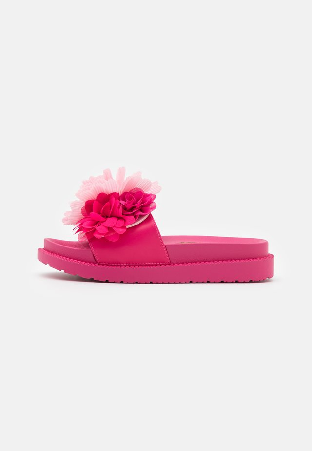SLIDE WIDE FIT SOLE FLOWERS - Muiltjes - fuchsia