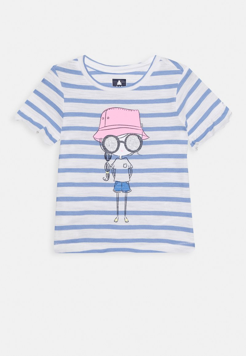 GAP - TODDLER GIRL - T-shirt con stampa - white/blue