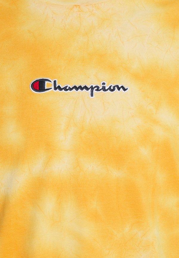 Champion Rochester CREWNECK - T-shirt z nadrukiem - yellow/żÓłty Odzież Męska NZZL