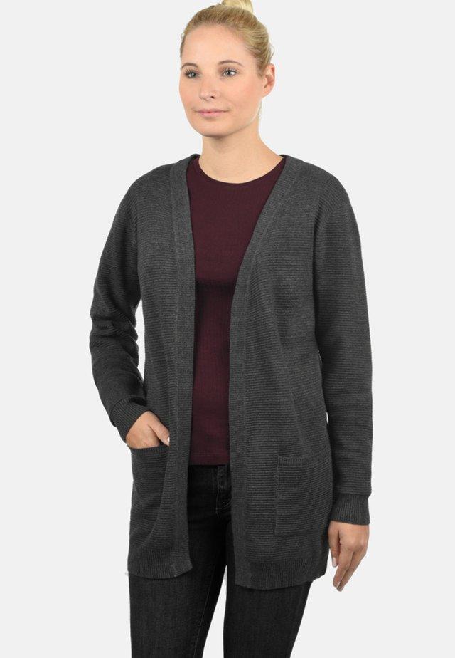 STRICKJACKE RIRI - Vest - dark grey