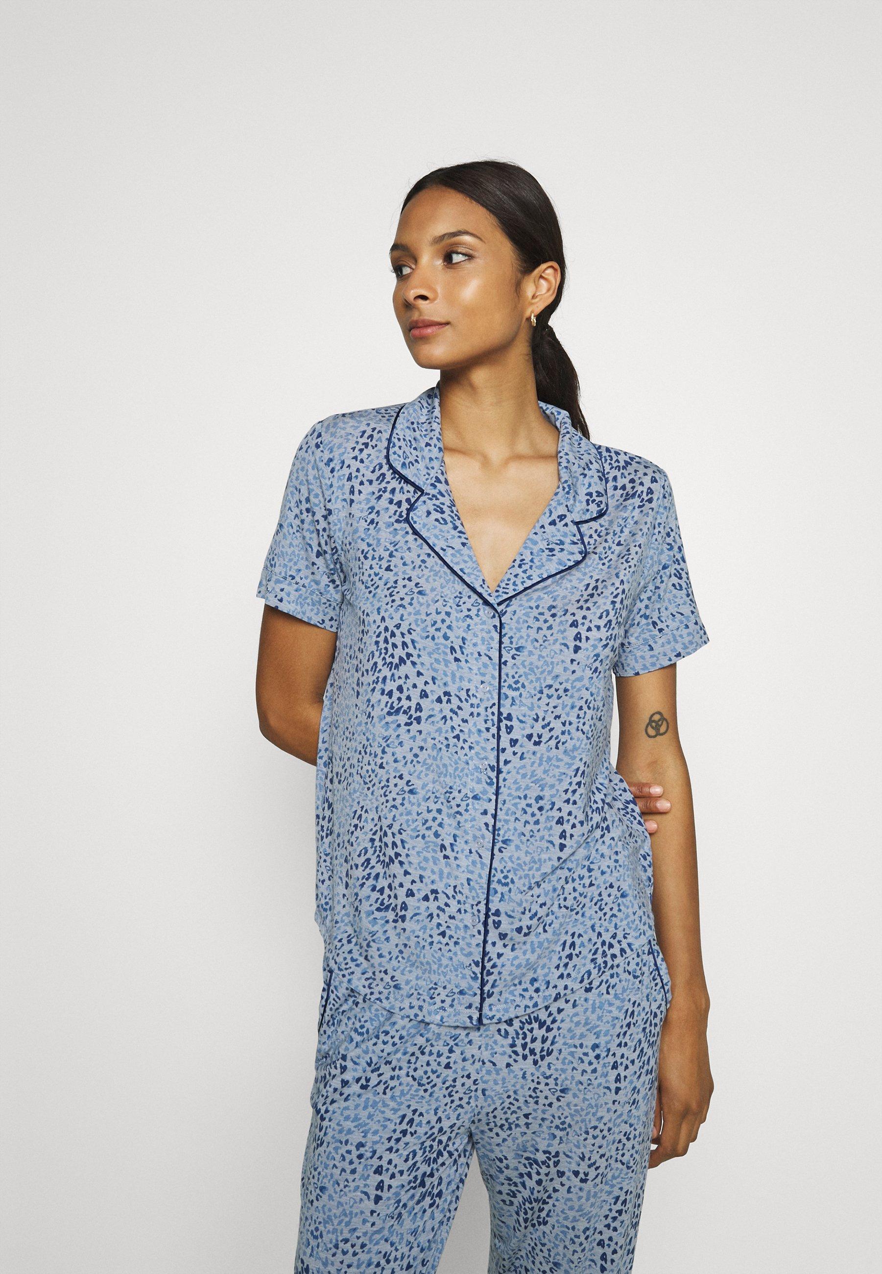 Damen PIPING  - Nachtwäsche Shirt
