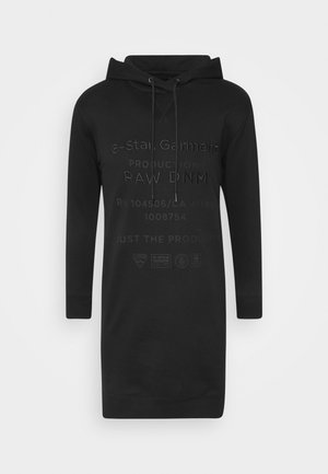 GRAPHIC TEXT DRESS - Day dress - black
