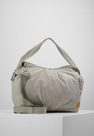TWIN BAG TRIANGLE SET - Baby changing bag - light grey