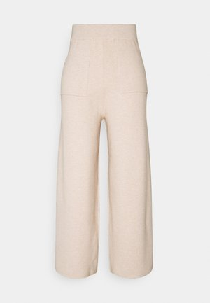 DORY WIDE TROUSER - Bukser - beige mark