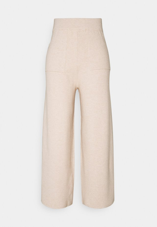 DORY WIDE TROUSER - Pantaloni - beige mark