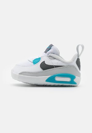 NIKE MAX 90 CRIB - Baby shoes - white/iron grey/chlorine blue