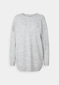 Even&Odd - Strikkegenser - mottled light grey - 0