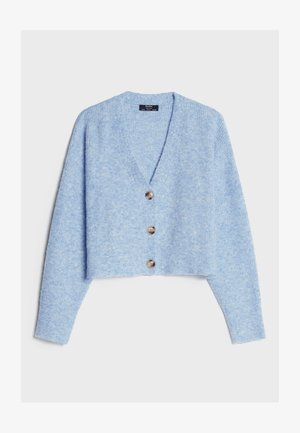 CROPPED - MIT KNÖPFEN - Strikjakke /Cardigans - light blue