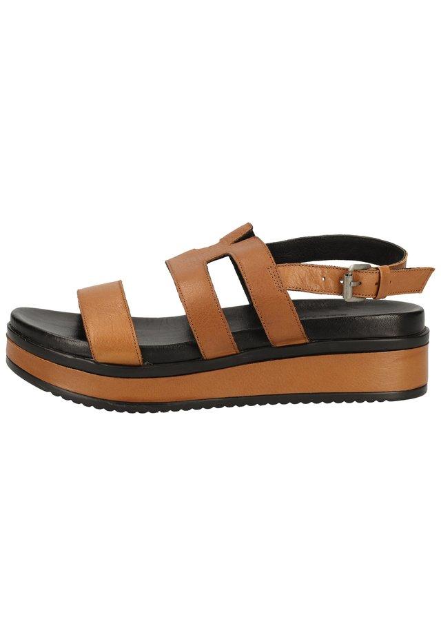 Sandalen met plateauzool - brown 3377