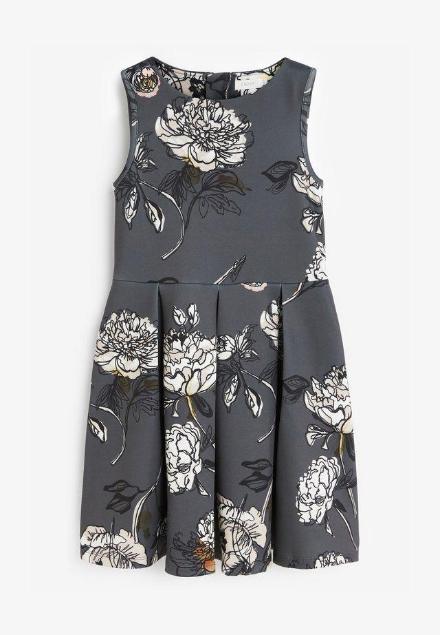 FLORAL SCUBA - Denní šaty - grey