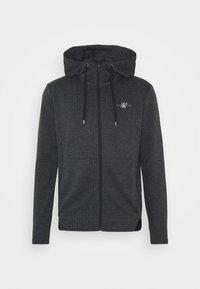SIKSILK - TONAL CHECK AGILITY ZIP THROUGH HOODIE - Summer jacket - grey - 3