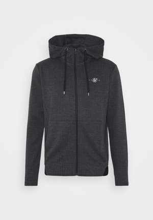 TONAL CHECK AGILITY ZIP THROUGH HOODIE - Korte jassen - grey