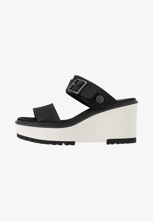 KORALYN BAND WEDGE - Sandaler - black