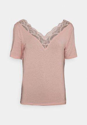 VMAVA  V NECK - Print T-shirt - misty rose
