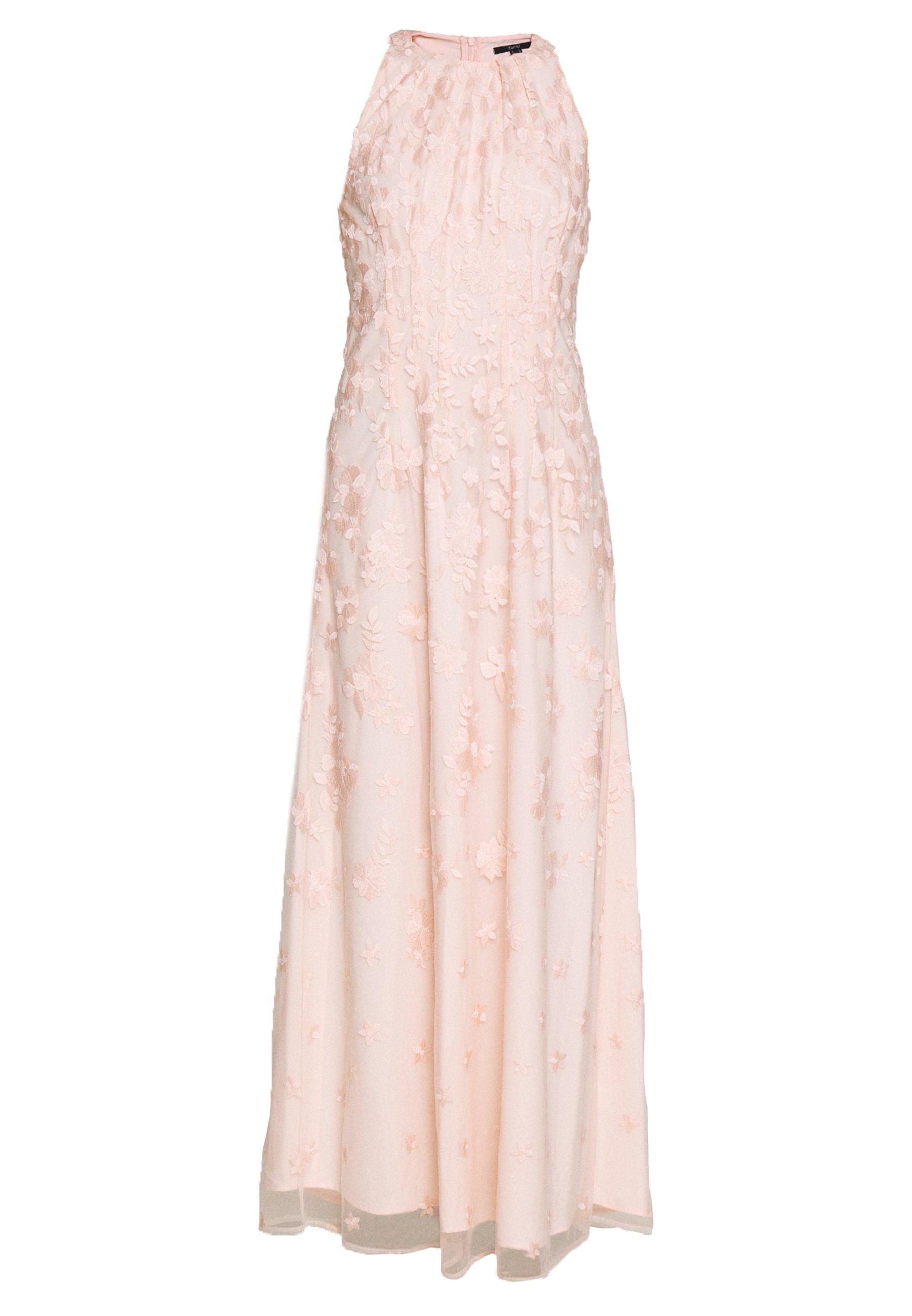 Esprit Collection FLUENT GEORGE - Maxikjole - pastel pink